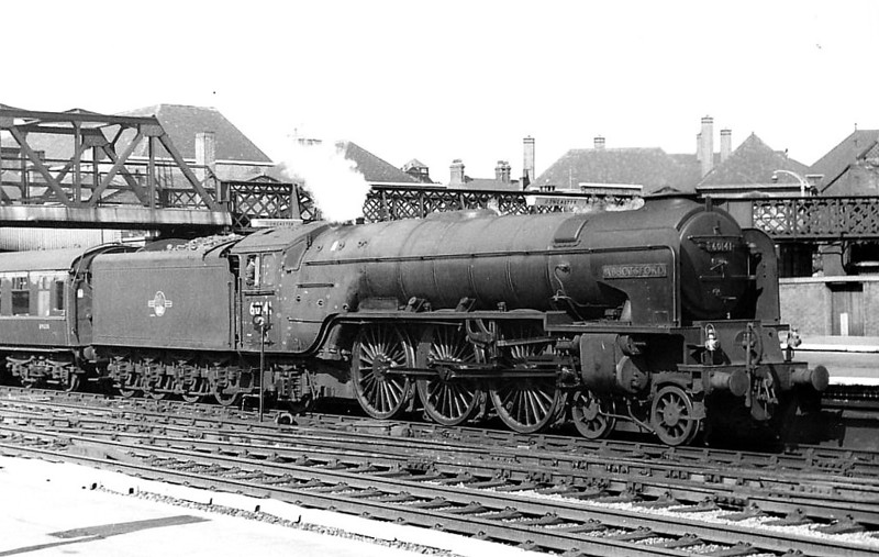 60141 ABBOTSFORD - Peppercorn Class A1 4-6-2 - built 12/48 by Doncaster Works - 10/64 withdrawn from 50A York North - seen here at Doncaster in 1962.