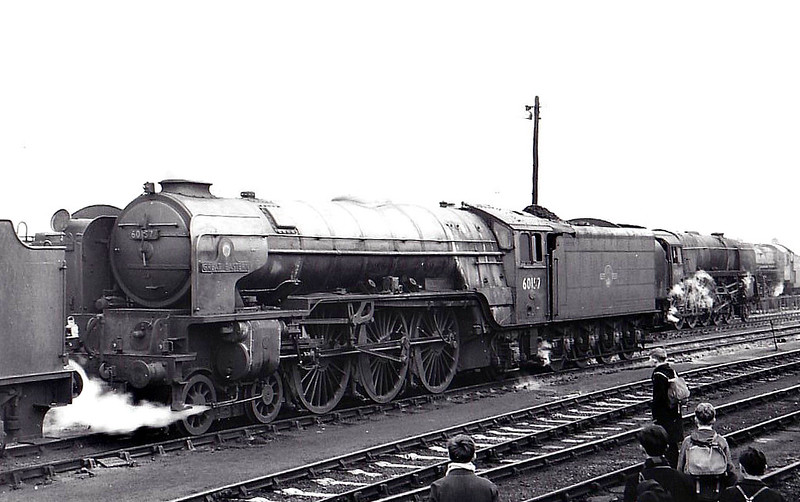 60157 GREAT EASTERN - Peppercorn BR Class A1 4-6-2 - built 11/49 by Doncaster Works - 01/65 withdrawn from 36A Doncaster - seen here at York, 11/63.