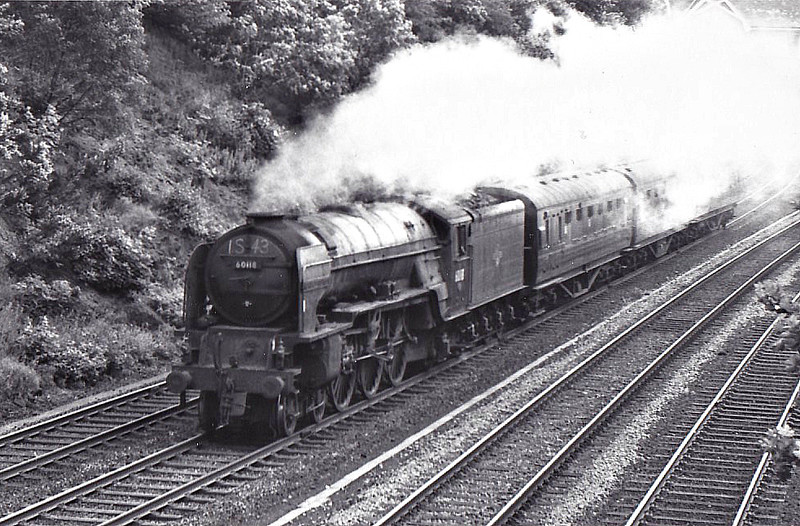 60118 ARCHIBALD STURROCK - Peppercorn Class A1 4-6-2 - built 11/48 by Doncaster Works - 10/65 withdrawn from 55C Leeds Neville Hill - seen here at Arperley Bridge.