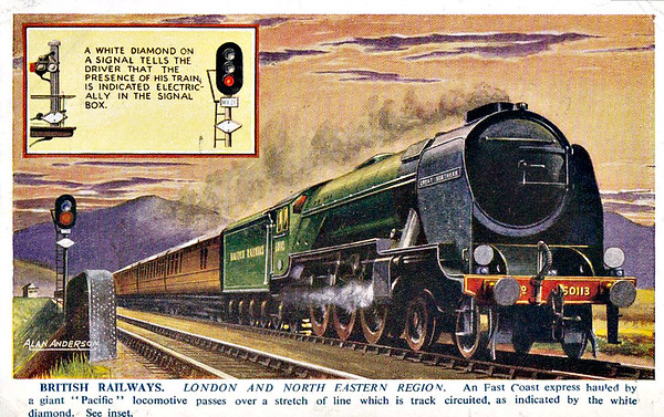 60113 GREAT NORTHERN - Gresley 4-6-2 - built 04/22 by Doncaster Works as GNR No.14790- 03/25 to LNER No.4470 - 1945 rebuilt by Thompson as Class A2/2 - 10/46 to LNER No.113, 10/48 to BR No.60113 - 11/.62 withdrawn from 36A Doncaster.