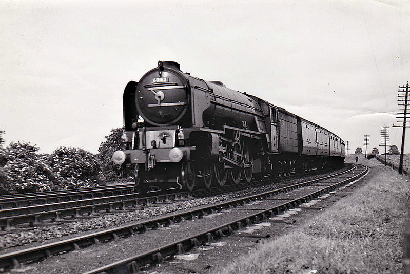 60162 SAINT JOHNSTOUN - Peppercorn Class A1 4-6-2 - built 12/49 by Doncaster Works - 10/63 withdrawn from 64A St Margarets - seen here when new and unnamed.