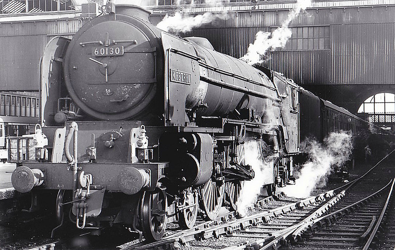 60130 KESTREL - Peppercorn Class A1 4-6-2 - built 09/48 by Doncaster Works - 10/65 withdrawn from 56B Ardsley - seen here at Kings Cross.