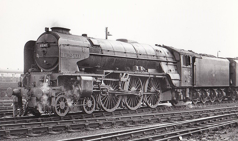 60140 BALMORAL - Peppercorn Class A1 4-6-2 - built 12/48 .by Darlington Works - 10/64 withdrawn from 50A York North, where seen 07/61