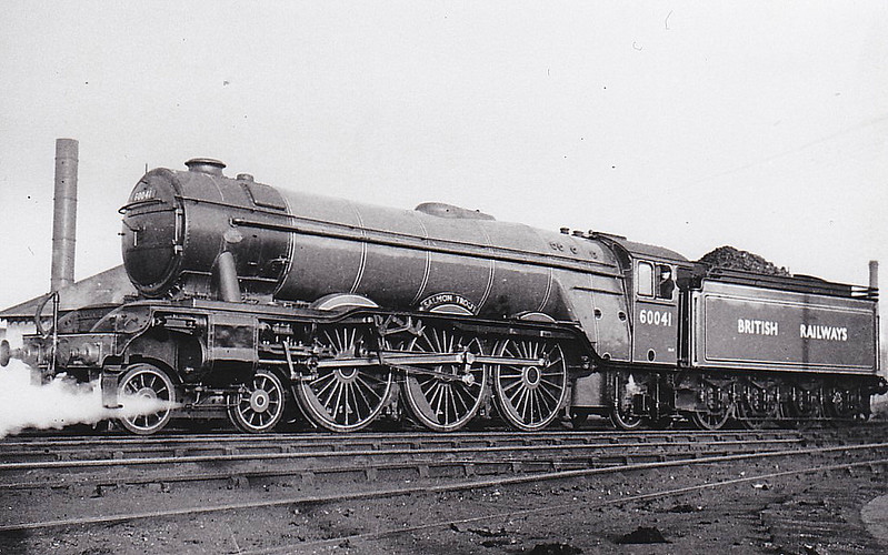 60041 SALMON TROUT - Gresley LNER Class A3 4-6-2 - built 12/34 by Doncaster Works as LNER No.2506 - 07/46 to LNER No.41, 11/48 to BR No.60041 - 12/65 withdrawn from 64A St Margarets - seen here at Haymarket.