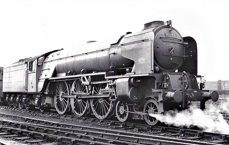 60153 FLAMBOYANT - Peppercorn Class A1 4-6-2 - built 08/49 by Doncaster Works - 11/62 withdrawn from 50A York North - seen here at Doncaster before naming, 06/50.
