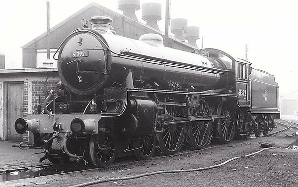 61392 - Thompson LNER/BR Class B1 4-6-0 - built 12/51 by North British Loco. Works - 06/65 withdrawn from 40E Colwick - seen here at Doncaster Works.