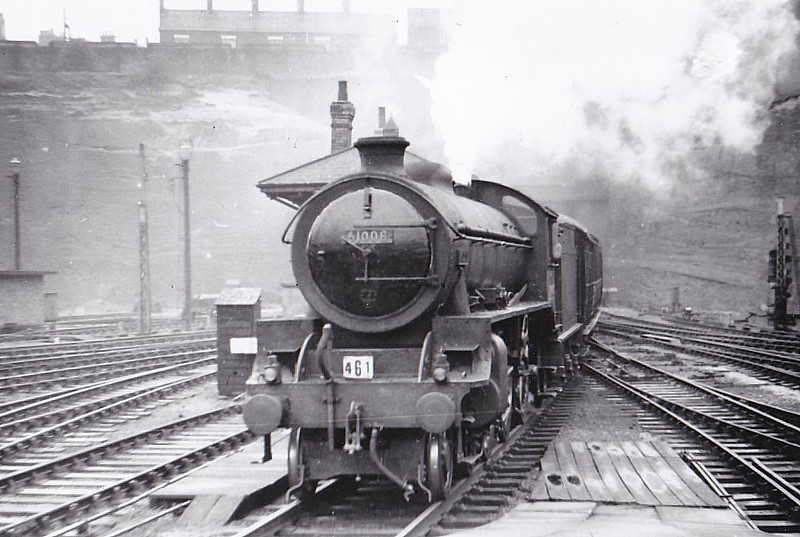 61008 KUDU - Thompson LNER/BR Class B1 4-6-0 - built 05/44 by Darlington Works as LNER No.8309 - 01/46 to LNER No.1008, 05/48 to BR No.61008 - 12/66 withdrawn from 66E Carstairs - seen here at Nottingham Victoria, 1957.