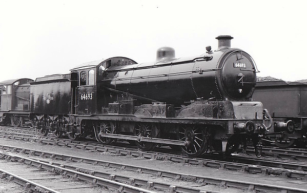64693 - Hill GER Class J20 0-6-0 - built 12/22 by Stratford Works as GER No.1288 - 06/24 to LNER No.8288, 02/46 to LNER No.4693, 04/51 to BR No.64693 - 08/60 withdrawn from 30A Stratford, where seen 09/57.