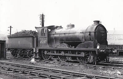 65287 - Holmes NBR Cass C LNER Class J36 0-6-0 - built 12/1896 by Cowlairs Works as NBR No.716 - 04/24 to LNER No.9716, 10/46 to LNER No.5287, 06/49 to BR No.65287 - 06/63 withdrawn from 65F Grangemouth - note cut-down cab and boiler fittings for use on Gartsherrie branch.