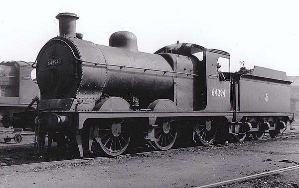 64294 - Robinson GCR Class 9J LNER Class J11 0-6-0 - built 12/01 by Neilson Reid & Co. as GCR No.987 - 05/26 to LNER No.5987, 07/46 to LNER No.4294, 11/48 to BR No.64294 - 09/59 withdrawn from 39A Gorton, where seen 05/53.