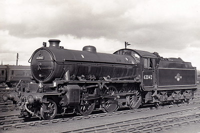 62042 - Peppercorn LNER/BR Class K1 2-6-0 - built 10/49 by North British Loco Co. - 07/67 withdrawn from 51C West Hartlepool - seen here at York in April 1965.