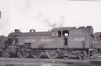 E9008 - Thompson LNER/BR Class L1 2-6-4T - built 03/48 by Darlington Works - 05/48 to BR No.67709 - 12/60 withdrawn from 30A Strtatford - seen here in Apple Green livery with temporary number.