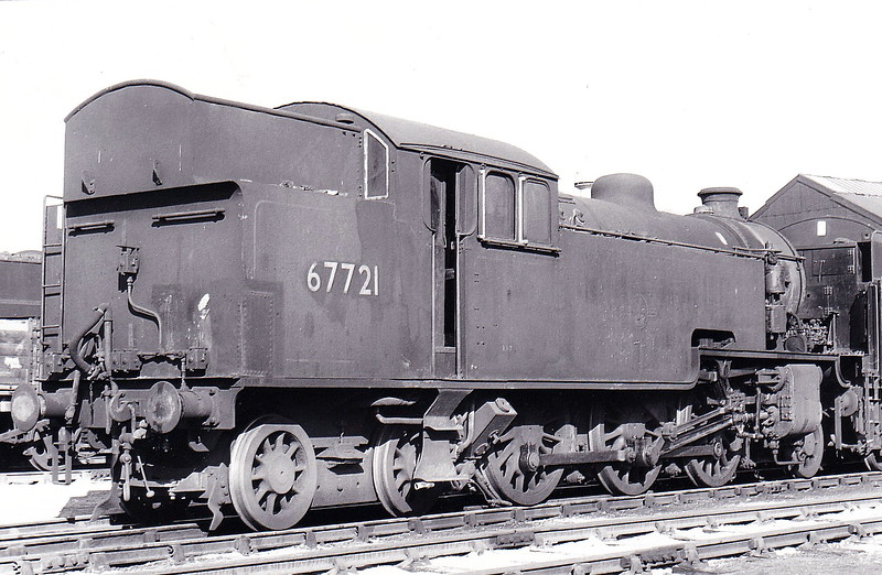 67721 - Thompson LNER/BR Class L1 2-6-4T - built 05/48 by Darlington Works, Works No.2038 - 11/62 withdrawn from 56F Low Moor - seen here at Darlington Works in April 1962.