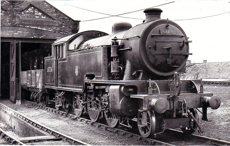 67736 - Thompson LNER/BR Class L1 2-6-4T - built 11/48 by North British Loco Co., Works No.26575 - 09/62 withdrawn from 30A Stratford - seen here at Yarmouth Vauxhall in May 1955.