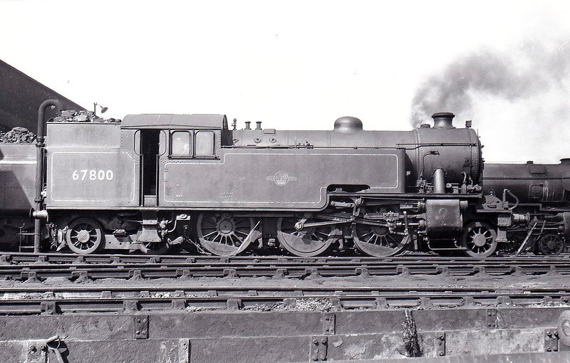 67800 - Thompson LNER/BR Class L1 2-6-4T - built 09/50 by Robert Stephenson & Hawthorn Ltd, Works No.7534 - 12/62 withdrawn from 40E Colwick - seen here at Kings Cross in April 1962.