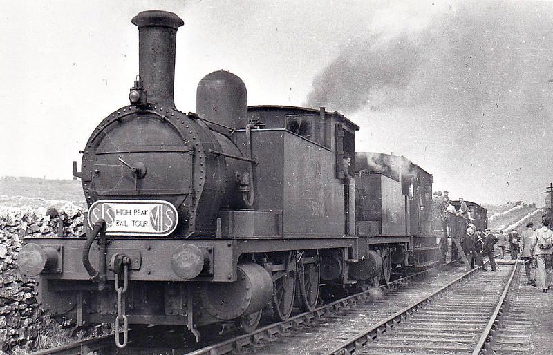 58860 and 58856 - Park NLR Class 75 2F 0-6-0T - both built at Bow Works for the NLR - seen here at Middleton Top in June 1953 on the SLS/MLS 'High Peak Rail Tour'.