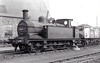 41804 - Johnson MR Class 1102 1F 0-6-0T - built 12/1890 by Derby Works as MR No.889 - 1907 to MR No.1804, 09/48 to BR No.41804 - 12/66 withdrawn from 41J Langwith Junction - seen here at Staveley, 09/64.