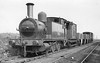 58856 - Park NLR Class 75 3F 0-6-0T - built 1907 by Bow Works as NLR No.16 - 1922 to LNWR No.2876, 1923 to LMS No.7515, 1934 to LMS No.27515, 09/48 to BR No.58856 - 10/57 withdrawn from 17D Rowsley - seen here at Friden on the C&HPR in 1953.