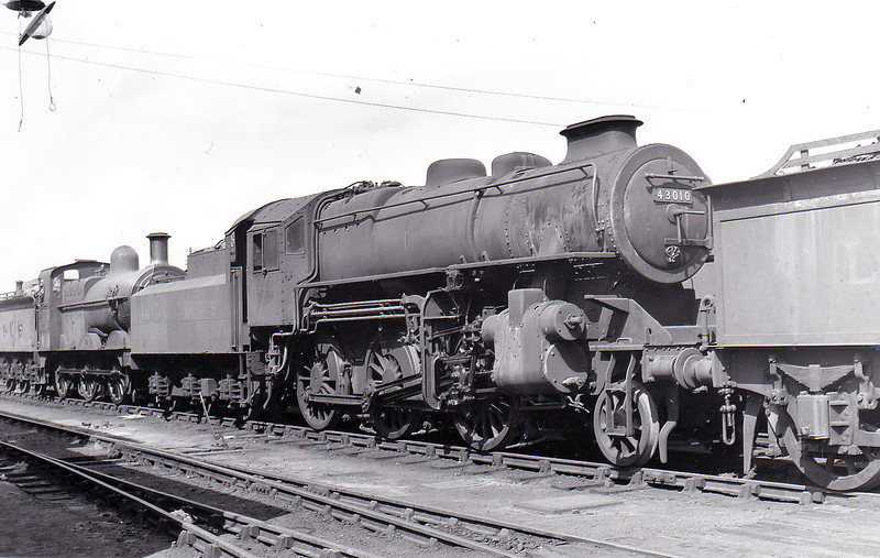 43010 - Ivatt LMS Class 4MT 2-6-0 - built 03/48 by Horwich Works as LMS No.3010 - 03/51 to BR No.43010 - 12/67 withdrawn from 12D Workington.