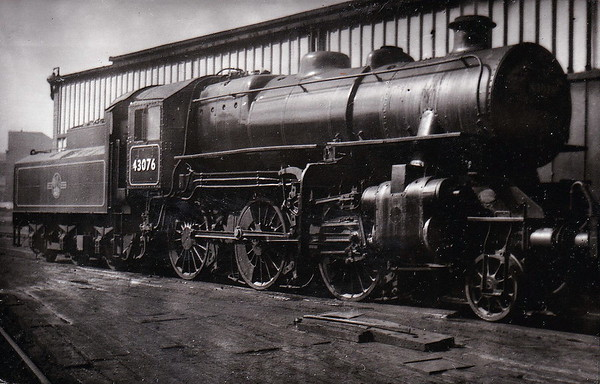 43076 - Ivatt LMS Class 4MT 2-6-0 - built 10/50 by Darlington Works - 09/67 withdrawn from 56F Low Moor.