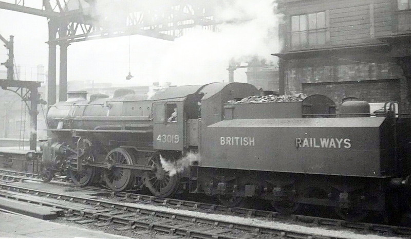 43019 - Ivatt LMS Class 4MT 2-6-0 - built 06/48 by Horwich Works - 05/68 withdrawn from 10D Lostock Hall - seen here with double chimney.