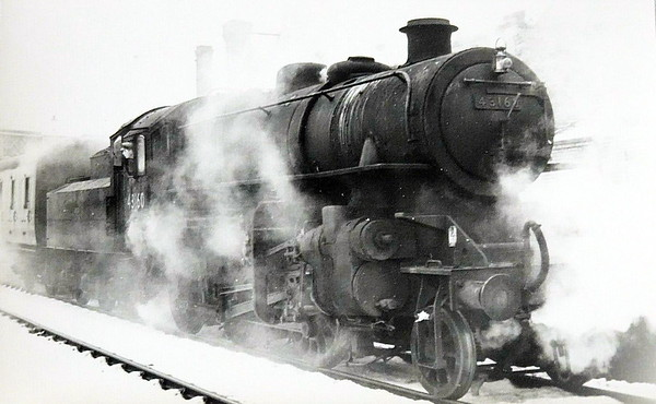43160 - BR Ivatt Class 4MT 2-6-0 - built 08/52 by Doncaster Works - withdrawn 01/65 from 40E Colwick - M&GN loco from new to 03/59.
