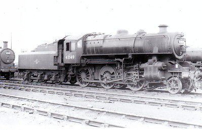 43149 - BR Ivatt Class 4MT 2-6-0 - built 10/51 by Doncaster Works - withdrawn 11/65 from 41J Langwith Junction - seen here at March in 1961.