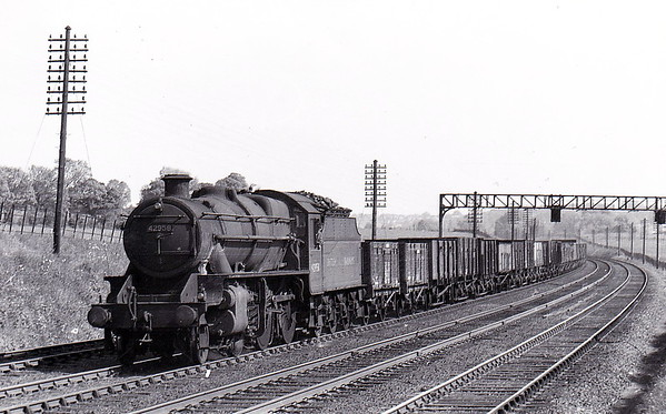 42958 - Stanier LMS Class 6P5F 2-6-0 - built 01/34 by Crewe Works as LMS No.13258 - 06/36 to LMS No.2958, 04/48 to BR No.42958 - 11/65 withdrawn from 9F Heaton Mersey.
