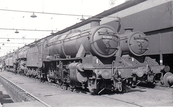42983 - Stanier LMS Class 6P5F 2-6-0 - built 03/34 by Crewe Works as LMS No.13283 - 07/35 to LMS No.2983, 09/48 to BR No.42983 - 01/66 withdrawn from 9F Heaton Mersey.