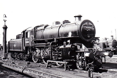 43005 - Ivatt LMS Class 4MT 2-6-0 - built 02/48 by Horwich Works as LMS No.3005 - 09/50 to BR No.43005 - 11/65 withdrawn from 2B Nuneaton - seen here at Horwich in September 1962.