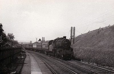 43115 - Ivatt LMS Class 4MT 2-6-0 - built 05/51 by Horwich Works - 05/67 withdrawn from 5D Stoke - seen here at Bell Busk.
