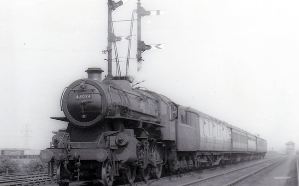 43074 -  Ivatt LMS Class 4MT 2-6-0 - built 09/50 by Darlington Works - 07/66 withdrawn from 55F Manningham - seen here at Wakefield.