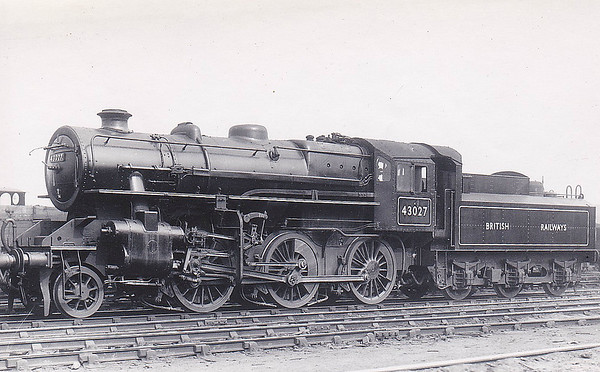 43027 - Ivatt LMS/BR Class 4MT 2-6-0 - built 02/49 by Horwich Works - 05/68 withdrawn from 10D Lostock Hall.