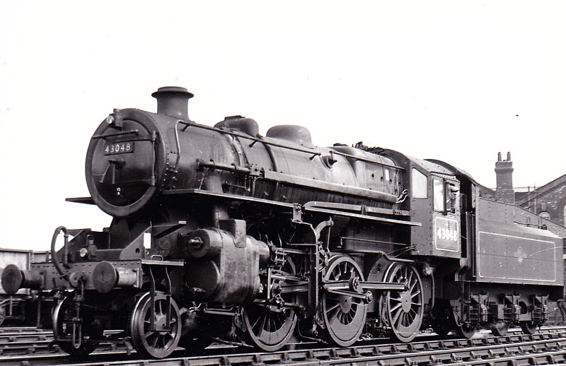 43048 -  Ivatt LMS Class 4MT 2-6-0 - built 11/49 by Horwich Works - 05/67 withdrawn from 52F North Blyth - seen here at Wellingborough in June 1960.