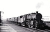 43043 - Ivatt LMS Class 4MT 2-6-0 - built 09/49 by Horwich Works - 10/67 withdrawn from 55E Normanton - seen here at Hest Bank on a Morecambe - Carnforth trip in October 1963.