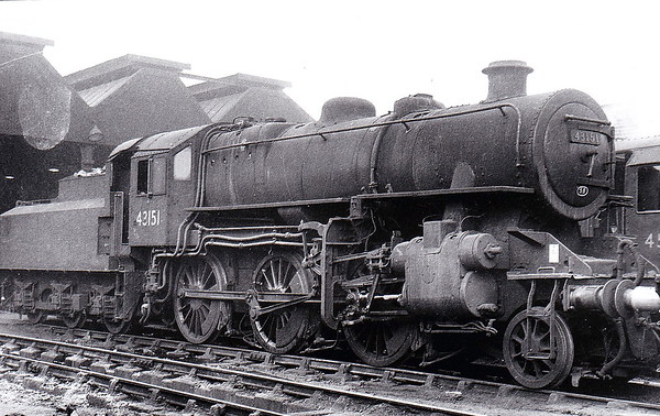 43151 - BR Ivatt Class 4MT 2-6-0 - built 09/51 by Doncaster Works - withdrawn 12/67 from 5B Crewe South, where seen in 1960.
