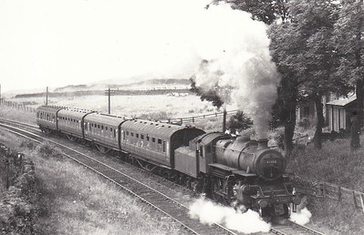 43102 - Ivatt LMS/BR Class 4MT 2-6-0 - built 03/51 by Darlington Works - 12/66 withdrawn from 55B Stourton 0 seen here on a Blackpool - Darlington train near Stainmore Summit.