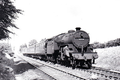 42778 - Hughes LMS Class 5F Crab 2-6-0 - built 09/27 by Crewe Works as LMS No.13078 - 01/35 to LMS No.2778, 02/49 to BR No.42778 - 04/65 withdrawn from 9G Gorton - seen here at Cheadle Hulme in June 1949.