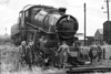 43142 - Ivatt LMS Class 4MT 2-6-0 - built 08/51 by Doncaster Works - 12/63 withdrawn from 40F Boston - seen here at South Lynn after running of the turntable during a shunting move.