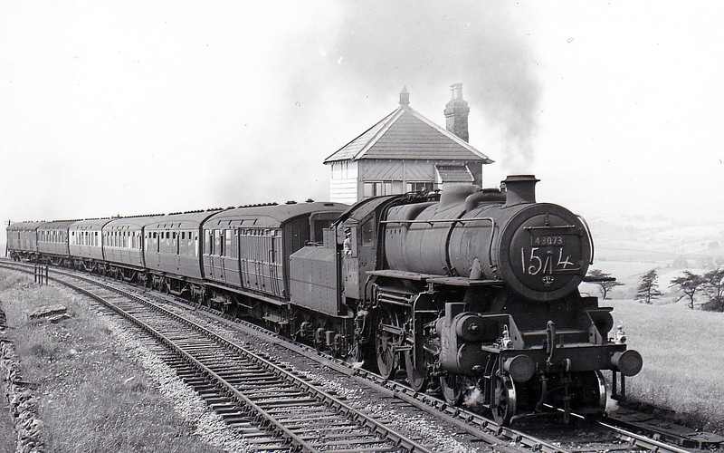43073 - Ivatt LMS Class 4MT 2-6-0 - built 09/50 by Darlington Works - 08/67 withdrawn from 12D Workington - seen here on a special.