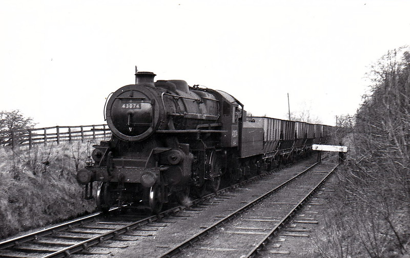 43074 - Ivatt LMS Class 4MT 2-6-0 - built 09/50 by Darlington Works - 07/66 withdrawn from 55F Manningham - seen here at Smardale.