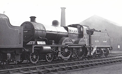 41047 - Fowler LMS Compound Class 4-4-0 - built 02/24 by Derby Works as LMS No.1047 - 10/48 to BR No.41047 - 02/54 withdrawn from 22B Goucester Barnwood.