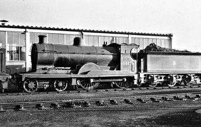54476 - Pickersgill CR Class 918 4-4-0 - built 06/16 by North British Loco Co. as CR No.937 - 1924 to LMS No.14476, 10/50 to BR No.54476 - 03/60 withdrawn from 63B Stirling.