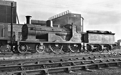 54398 BEN ALDER - Drummond HR 'Small Ben' Class 2P 4-4-0 - built 07/1898 by Dubs & Co. as HR No.2 - 1923 to LMS No.14398, 1958 to BR No.54398 - 03/53 withdrawn from 60D Wick.