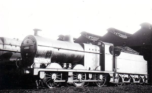 43983 - Fowler MR Class 3835 4F 0-6-0 - built 1922 by Armstrong Whtiworth, Works No.462 - 1923 to LMS - 08/65 withdrawn from 20C Royston.