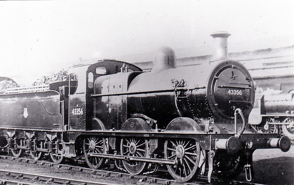43356 - Johnson MR Class 1873 0-6-0 - built 1891 by Dubs & Co., Works No..2826 as MR No.2079 - 1907 to MR No.3356 - 1923 to LMS - 04/48 to BR No.43356 - 07/58 withdrawn from 22D Templecombe.