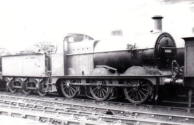 43607 - Johnson MR Class 1873 0-6-0 - built 1899 by Neilson Reid & Co., Works No.5579 as MR No.2468 - 1907 to MR No.3607 - 1923 to LMS - 03/50 to BR No.43607 - 05/56 withdrawn from 19A Sheffield Grimethorpe.