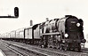 34009 LYME REGIS  - Bulleid SR Battle of Britain/West Country Class 4-6-2 - built 09/45 by Brighton Works as SR No.21c109 - 04/49 to BR No.34009 - 01/61 streamlining removed - 10/66 withdrawn from 70A Nine Elms - seen here at Raynes Park, 1966.