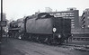 35023 HOLLAND AFRIKA LINE - Bulleid SR Merchant Navy Class 4-6-2 - built 11/48 by Eastleigh Works - 02/57 streamlining removed - 07/67 withdrawn from 70A Nine Elms, where seen.