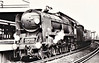 34004 YEOVIL - Bulleid SR Battle of Britain/West Country Class 4-6-2 - built 06/45 by Brighton Works as SR No.21c104 - 06/48 to BR No.34004 - 02/58 streamlining removed - 07/67 withdrawn from 70F Bournemouth - seen here at Vauxhall, 1966.